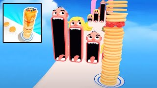 Pancake Run Full Level Android And IOS Gameplay Level - 185