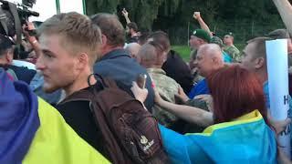 Как толпа провела Саакашвили в Украину. Полное видео