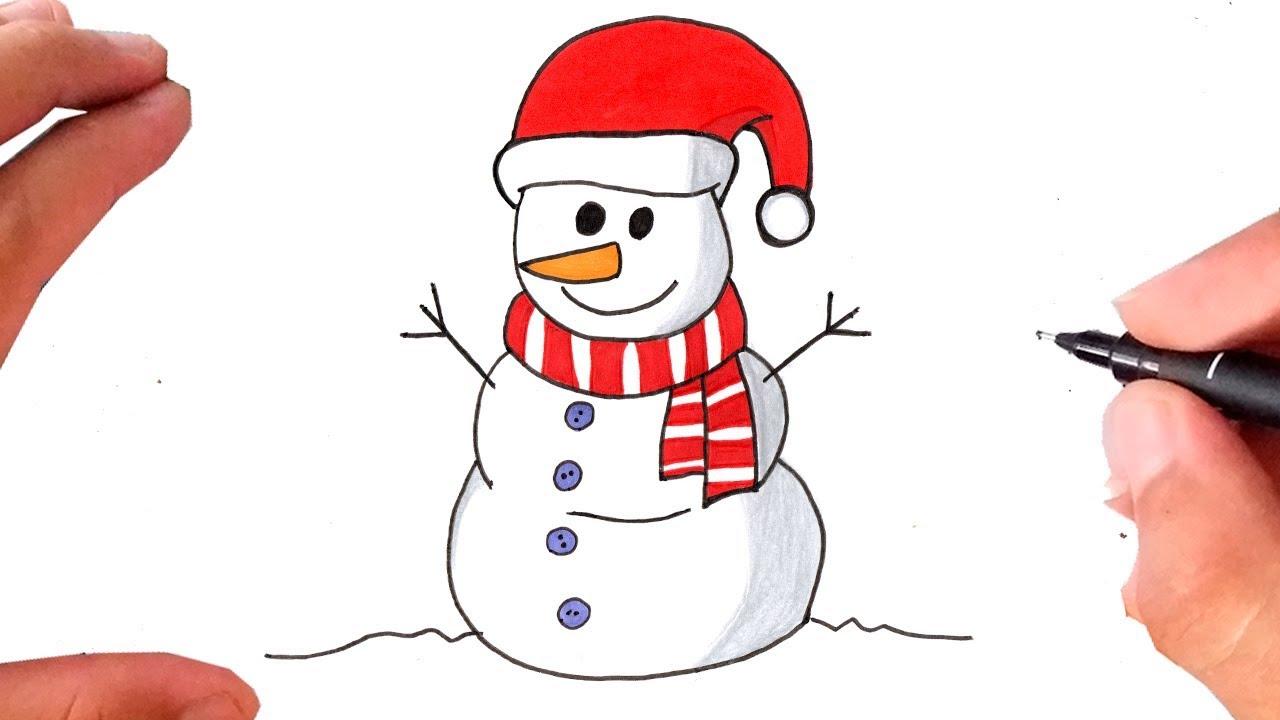 Como Desenhar Um Boneco De Neve Desenhos De Natal