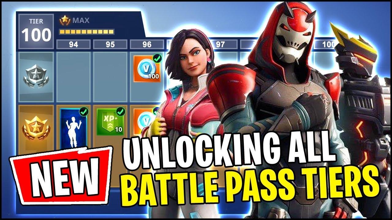 Fortnite Season 9 All Battle Pass Rewards Unlocked Tier 100 Youtube