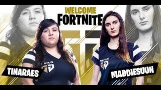 Introducing Gen.G Fortnite duo @TINARAES and @maddiesuun