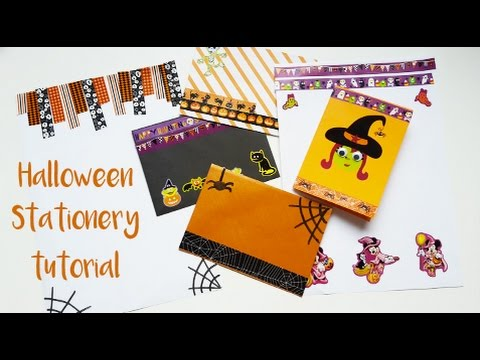 Halloween Stationery Snail Mail Tutorial