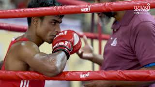 USI Boxing equipment being used at Elite Mens Boxing National  held at Army Sports Institute, Pune