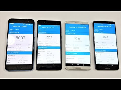Huawei Mate 10 Pro Vs HTC U11 Vs Nokia 8 Vs Huawei Mate 10 - BENCHMARK COMPARISON