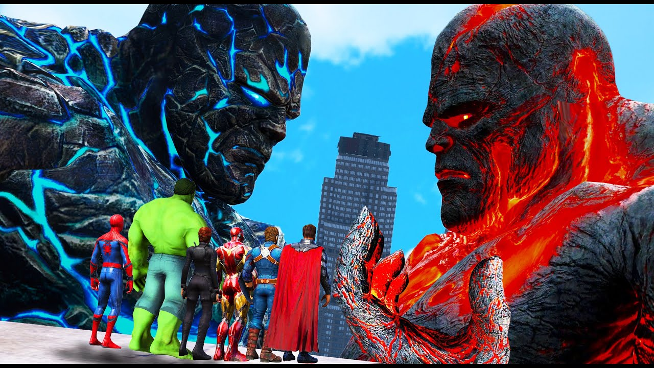 Download GTA 5 - Superheroes FOUND Biggest Titans 2 - Perses VS Oceanus