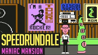 Maniac Mansion C64 (Training) Speedrun in 01:06:49 von Gregor | Speedrundale