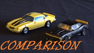 Toy Comparison: Transformers (2007) Bumblebee vs AOE High Octane Bumblebee
