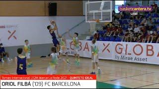 ORIOL FILBÁ ('09) FC Barcelona. Quinteto Ideal Torneo U12M