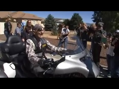 See 101-Year-Old Veteran Get One Last Ride on a Harley!
