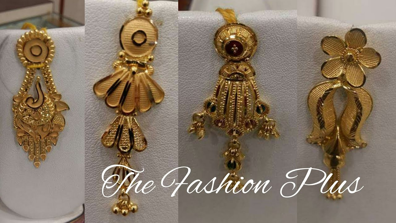GOLD EARRINGS DESIGNS-THE FASHION PLUS - YouTube