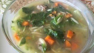 La Sopa De La Boda Italian, A Mi Estilo { Italian Wedding Soup }