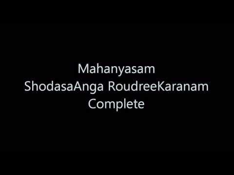Mahanyasam - ShodasaAnga RoudreeKaranam - Complete (R1 DSB)
