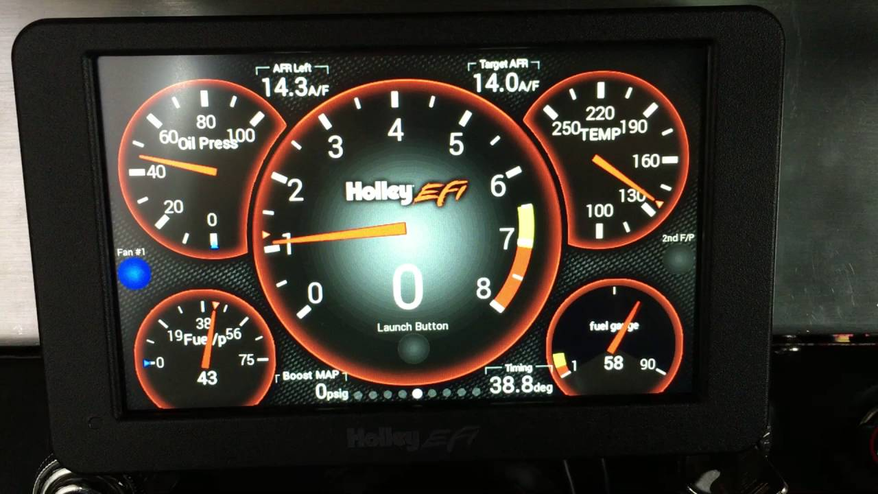 Holley EFI touch screen dash