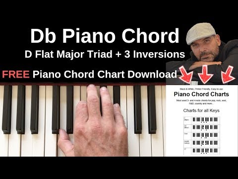Db Piano Chord D Flat Major Inversions Youtube
