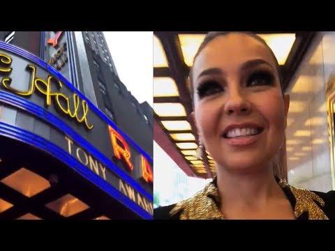 Thalía llega a los premios Tony Awards 2018