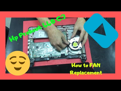 Hp Probook 440 G3 How To Fan Replacement Disassembly