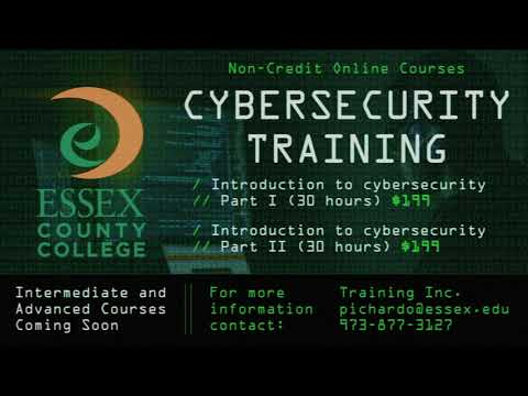 Essex County College Cybersecurity Training Promo 2020