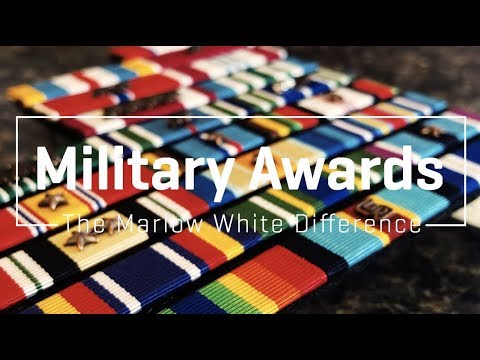 Military Awards - The Marlow White Difference