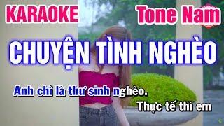 Karaoke Chuyện Tình Nghèo Tone Nam Nhạc Sống | Mai Thảo Organ