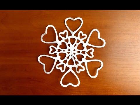 видео: красивые снежинки своими руками из бумаги пошагово