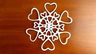 красивые снежинки своими руками из бумаги пошагово(Множество красивых снежинок, поделок на Новый Год и многое другое. Подписывайтесь на канал https://www.youtube.com/chann..., 2016-12-07T13:32:22.000Z)