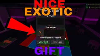 I GOT AN EXOTIC GIFT?? - (ROBLOX ASSASSINS GIFTS)