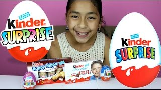 KINDER SURPRISE EGGS AND KINDER CHOCOLATE BARS FIRST TIME TASTE|B2CUTECUPCAKES
