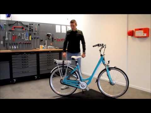 Batterij opladen van de Trenergy elektrische fietsen 1