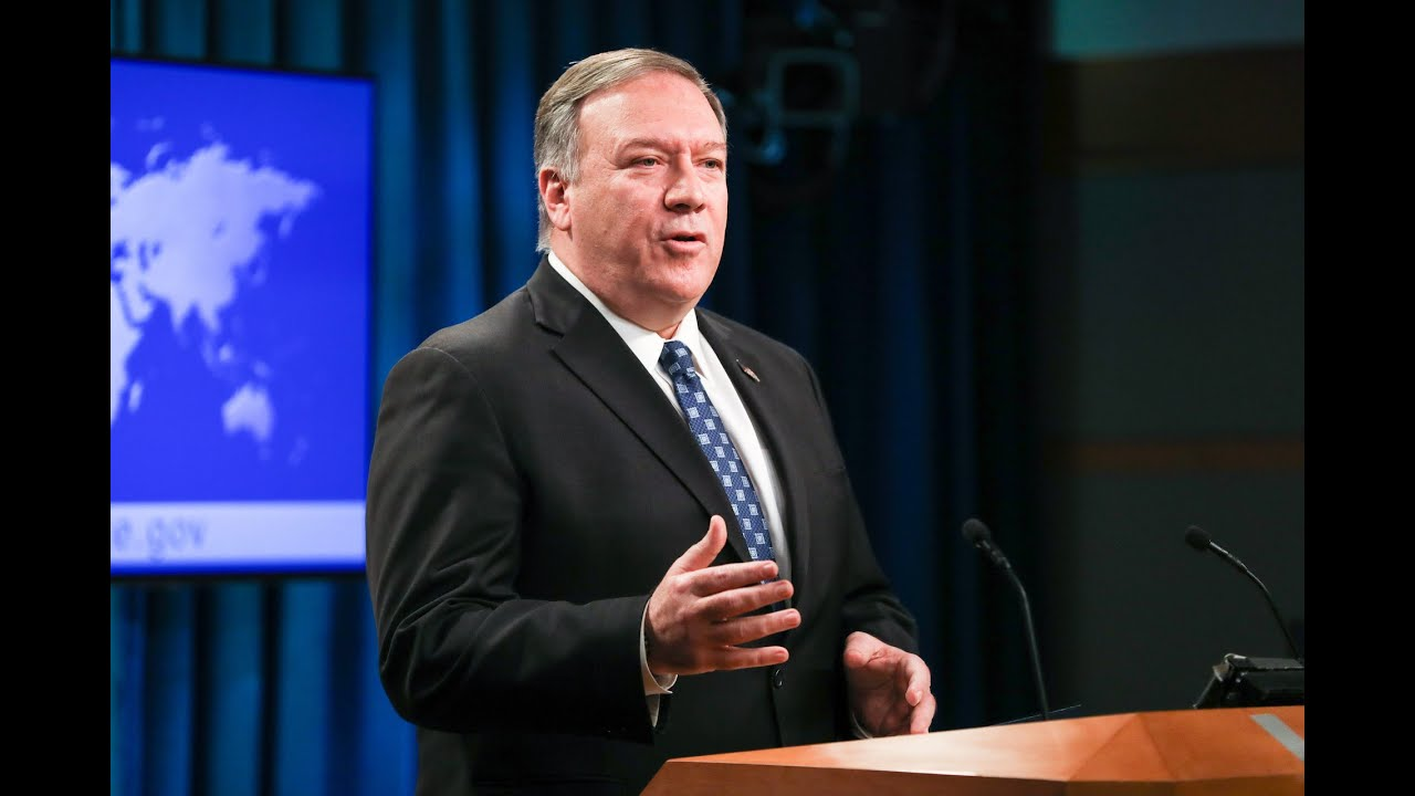 Pompeo Holds Briefing at US State Department