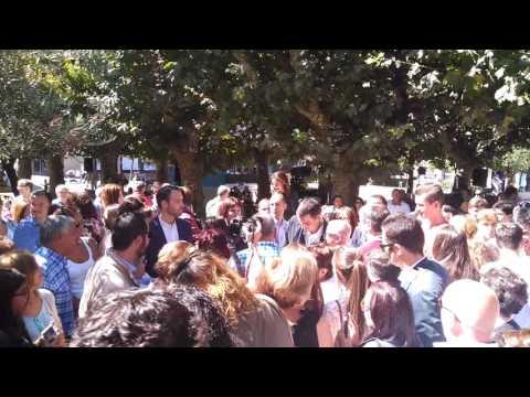 Baño de masas de Pedro Sánchez en Vilagarcía