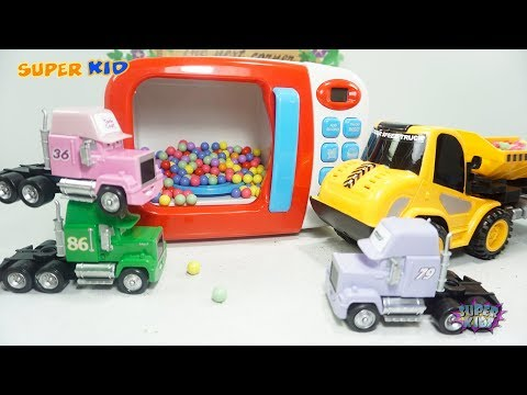 Learn color with Lightning Mcqueen, Cars Mack Truck and Color Beads, Toys For Kids