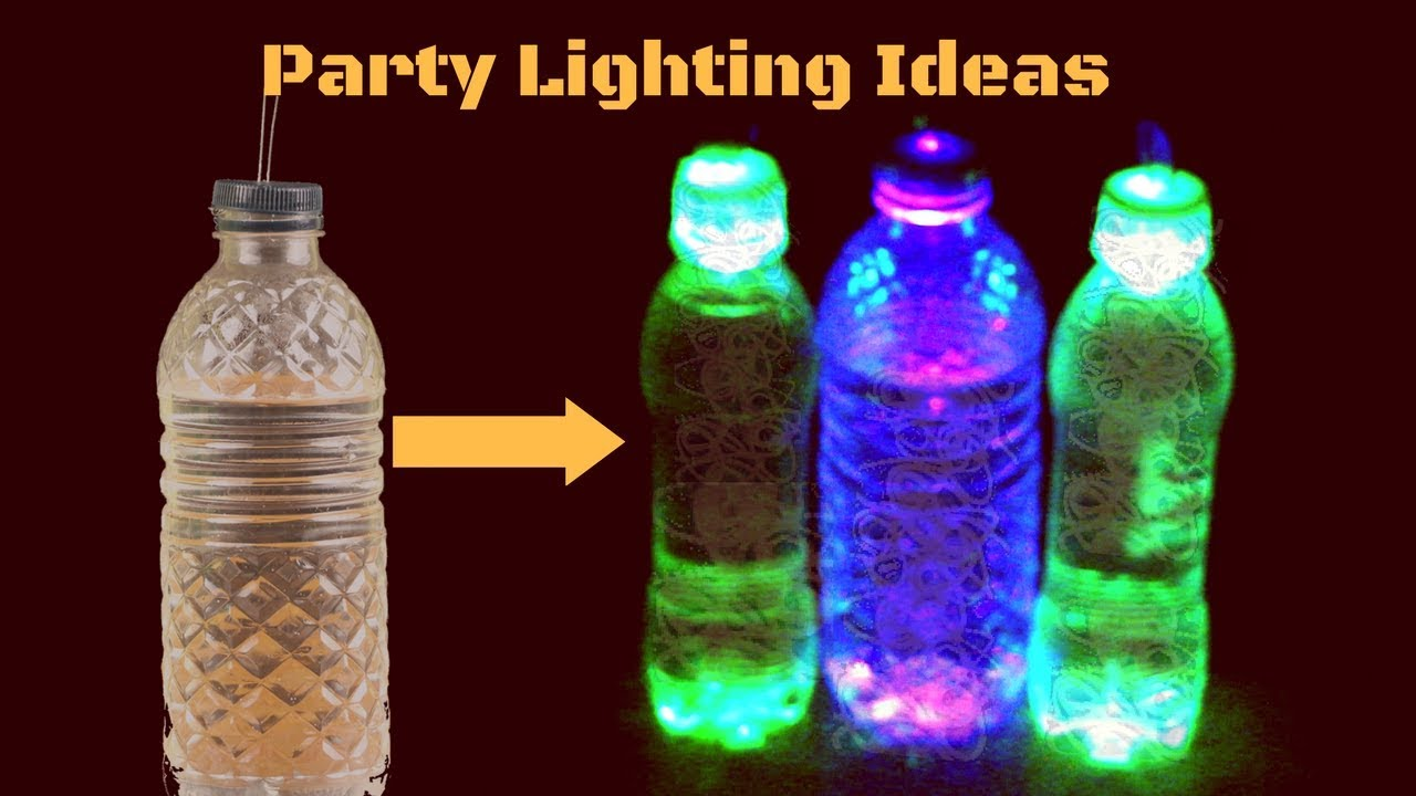 party lighting ideas. Plastic Bottles Ideas- How To Make Party Lighting Using ! Ideas