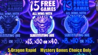★FINALLY SUPER BIG WIN !! Mystery Bonus Choice Only ! ☆5 DRAGONS RAPID Slot machine★栗スロ☆