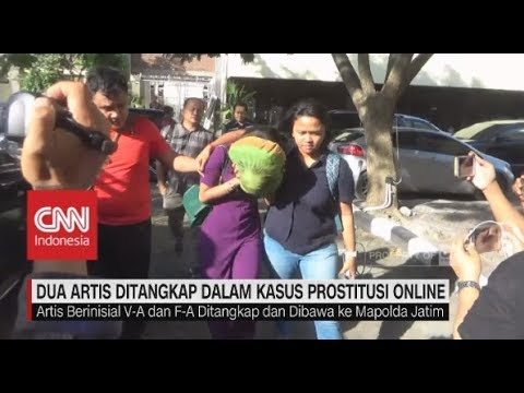 2 Artis Inisial V-A & A-S Ditangkap Mapolda Jatim Dalam Kasus Prostitusi Online