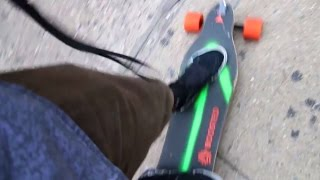 Riding Down Stairs on a Boosted Board