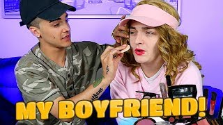 BOYFRIEND DOES MY MAKEUP! Ft. ItsRiccoTho