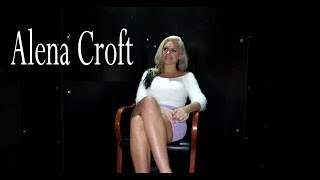 Alena Croft pornstar / interview before shooting