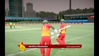 3rd T20I - South Africa VS Zimbabwe highights | Don Bradman Cricket 17 Gameplay