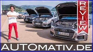 Audi A6 55 TFSI (340 PS) vs. A6 50 TDI (286 PS) vs. A6 40 TDI (204 PS) im Test und Vergleich