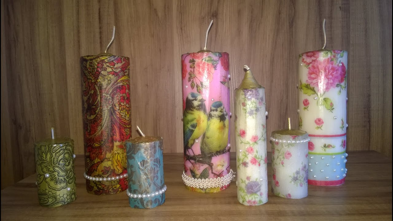 Diy velas decorativas lindo e muito f cil fa a voc - Velas decorativas ...