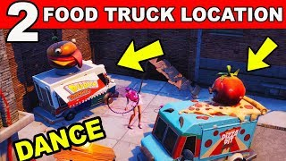 Dance or Emote Between Two Food Trucks - (Downtown Drop Challenge) Fortnite Battle Royale