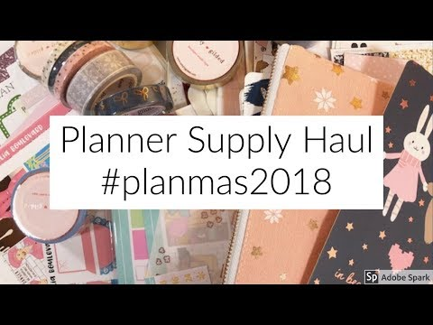 Planner Supply Haul // Lots of Stickers and Subscriptions // #planmas2018