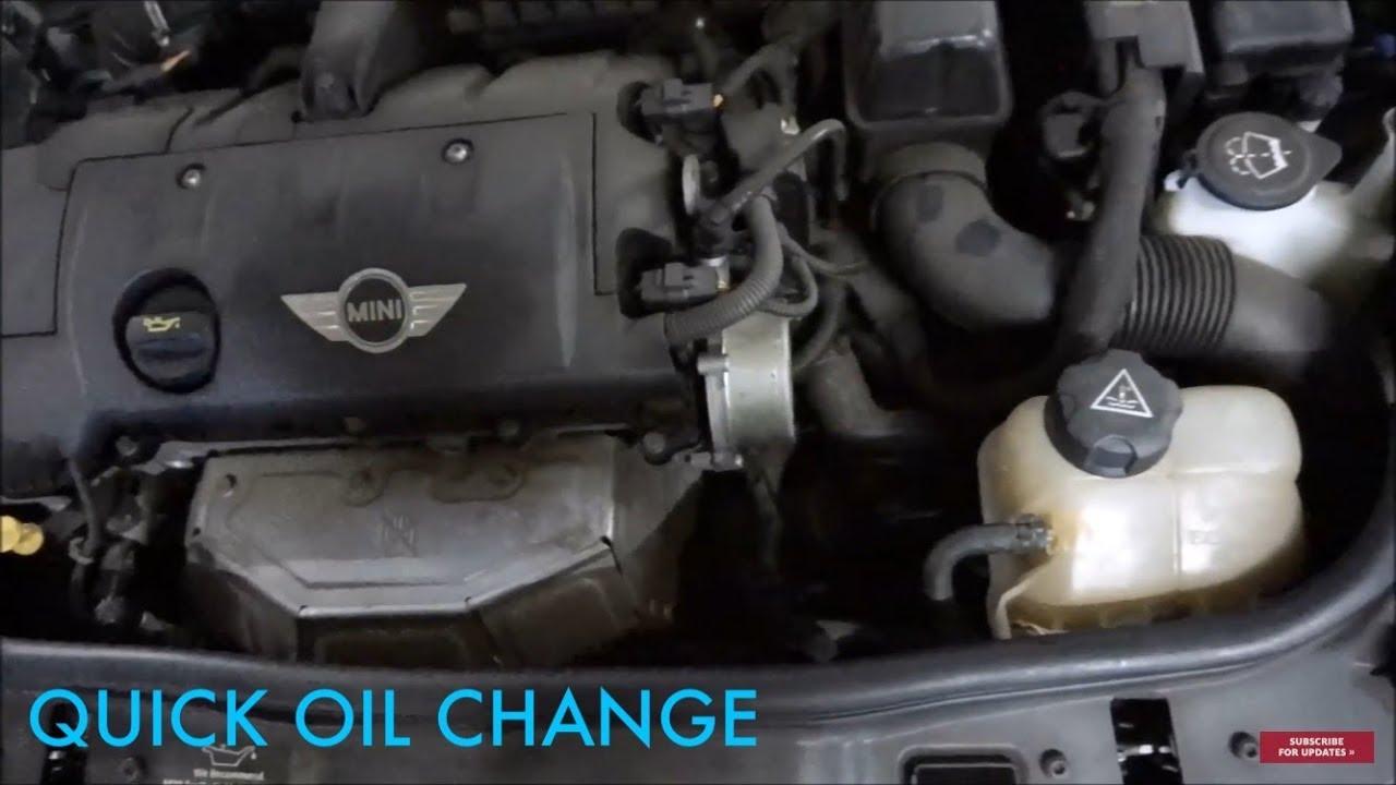 2009 Mini Cooper Hatch Oil Change 2007 2017