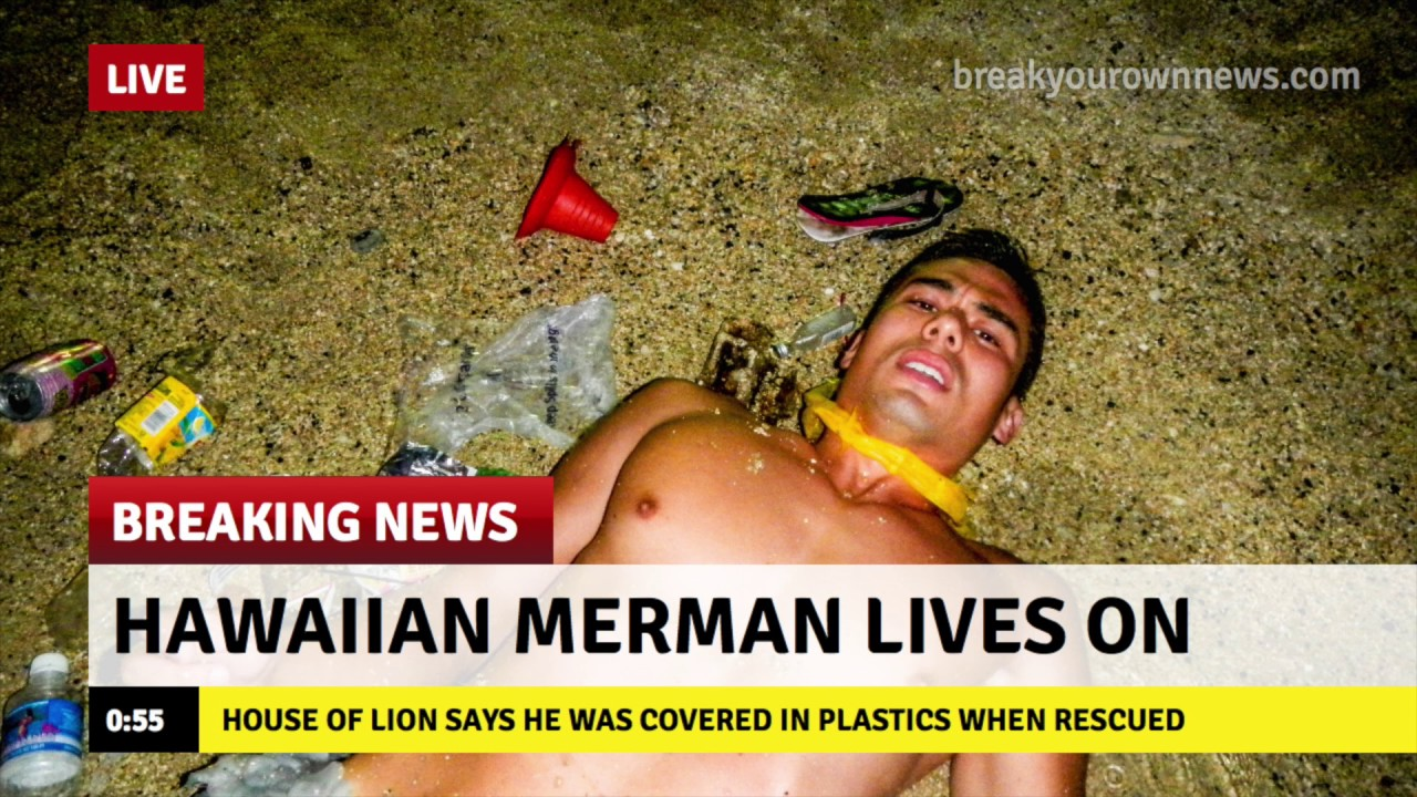 Hawaiian Merman Found On Coast Of Hawaii Says Plastics Destroying