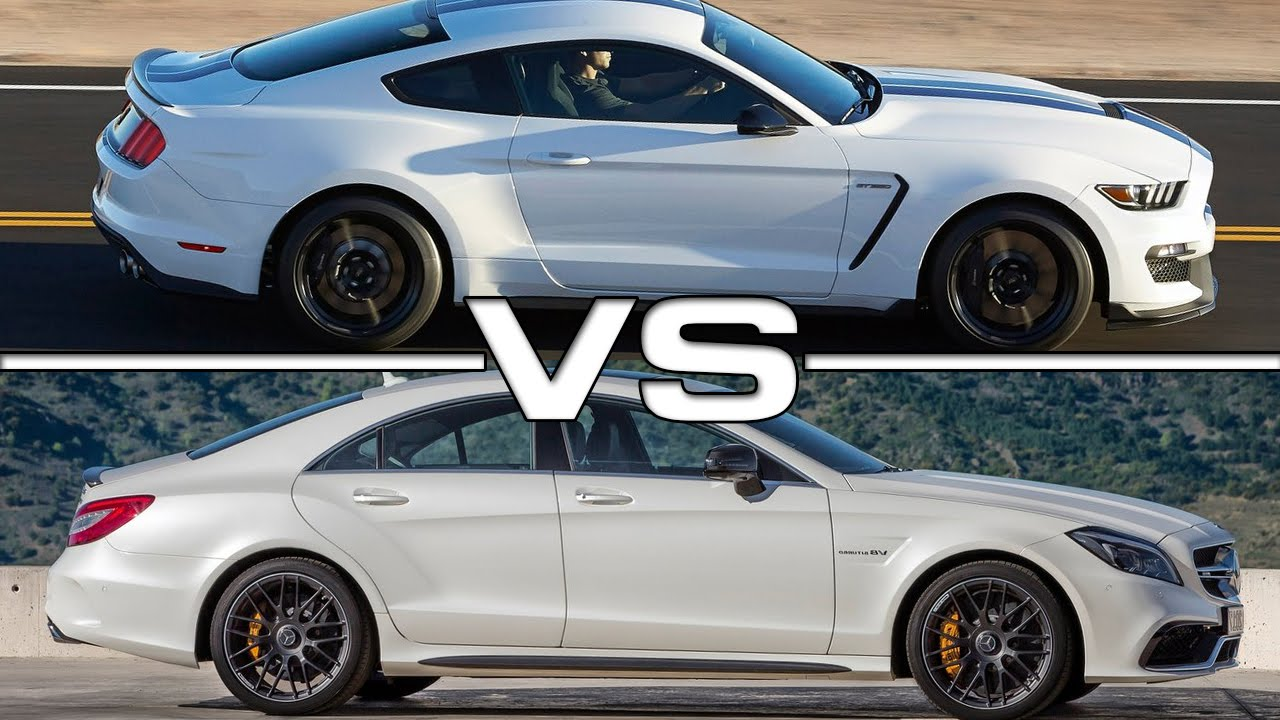 2015 Mercedes Cls 63 Amg Vs 2016 Ford Mustang Shelby Gt350