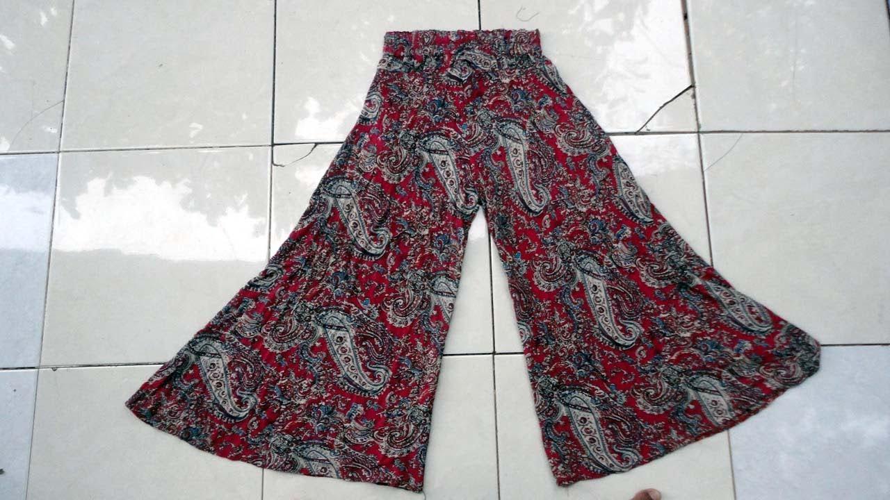 How To Change Umbrella Skirt To Culottle Pant Youtube Celana Celana Kulot Payung