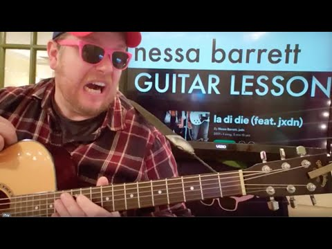 How To Play la di die Guitar Nessa Barrett jxdn // easy guitar tutorial beginner lesson easy chords