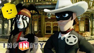 El llanero SOLITARIO Indios y Vaqueros Juegos de dibujos animados Videos para niños los Niños de Disney Infinity 1.0
