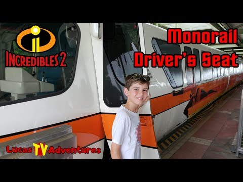 Incredibles 2 Monorail Driver's Seat at the Magic Kingdom | Walt Disney World