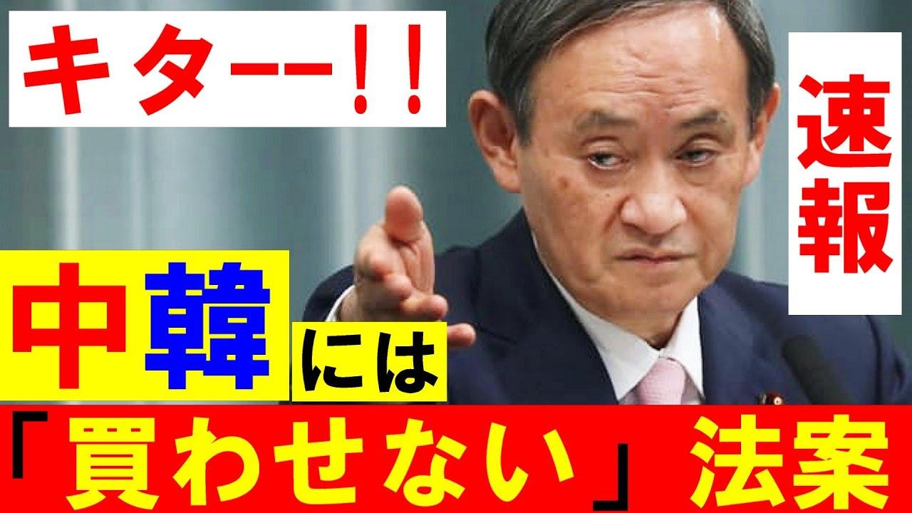 ついに来た!菅総理が「外国資本による土地買収の規制」制定する方針を固める!自民 山田宏「スパイ防止法の制定を柱にこれまで・・」最新の面白い国会ニュース